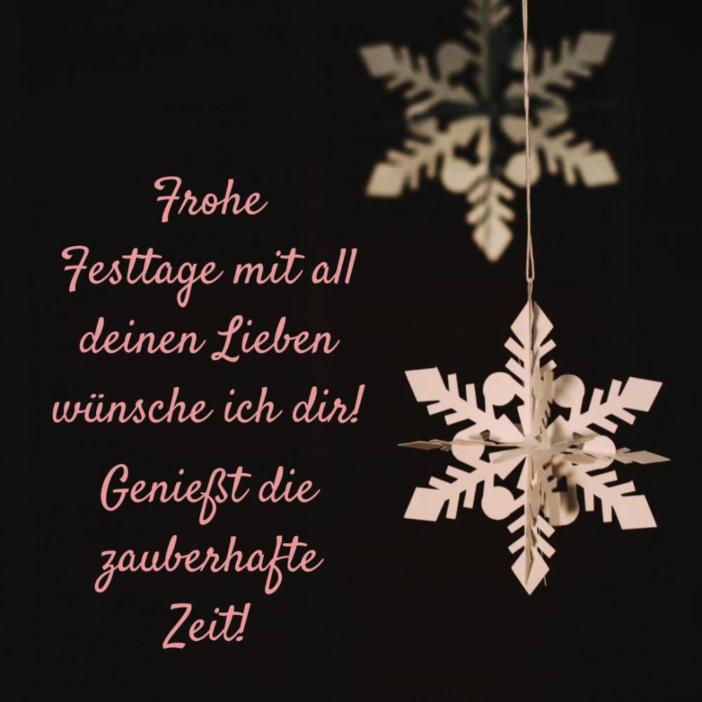 Schöne Weihnachtsgrüße kurzen Spruch verschicken